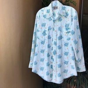 Vintage Champion westerns floral cowboy shirt 16